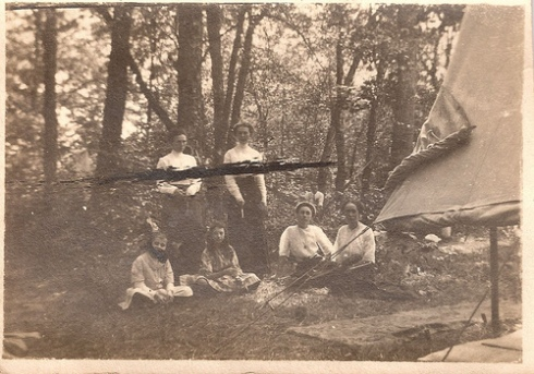 Casey Sisters and Victorian Camping; around 1900
